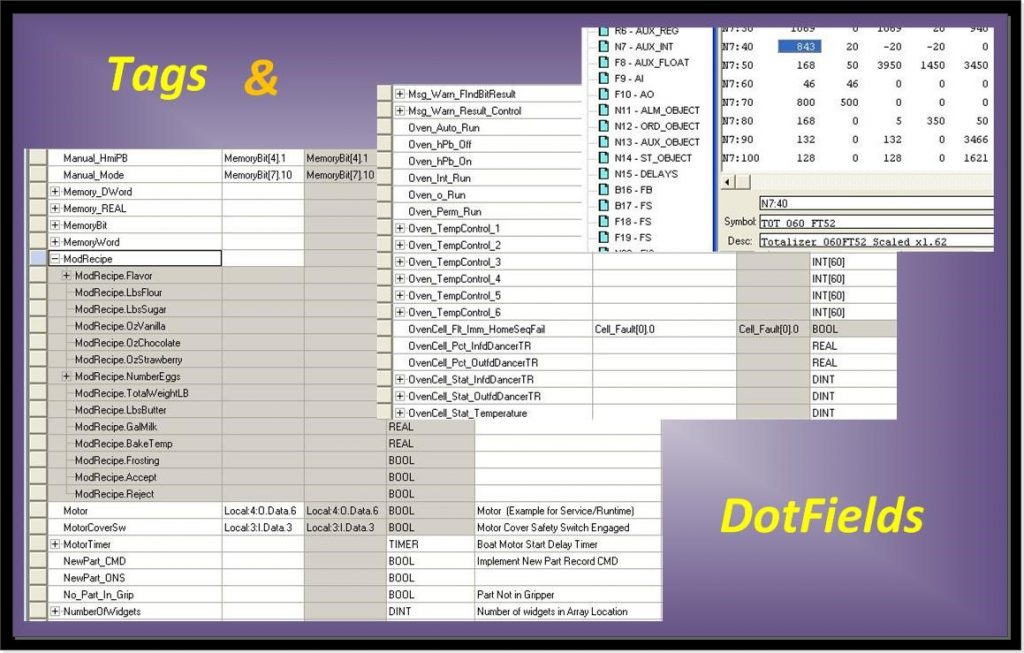 plc tag names and dotfields